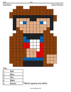 Gambean- Basic Division coloring page