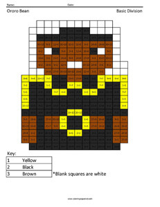 Ororo Bean- Basic Division coloring page