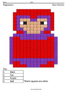 Magnabean- Basic Division coloring page