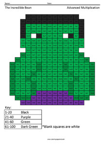 Incredible Bean- Multiplication Practice
