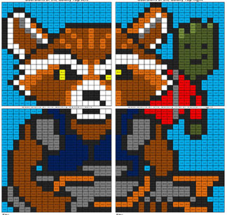 Guardians Of The Galaxy Division Mural Coloring Squared