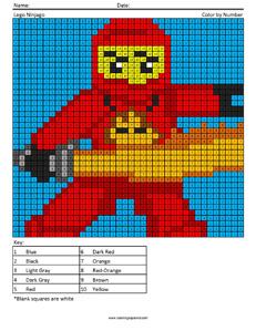 002 Ninjago Mega Pixel Megapixel Coloring Page Coloring