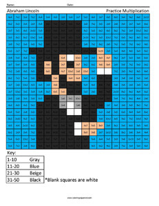 President Lincoln- Holiday Multiplication