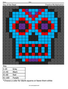 Day of the Dead- Holiday Multiplication