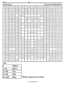 Santa Claus- Advanced Multiplication free worksheet