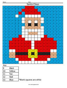Christmas Coloring Pixel Color
