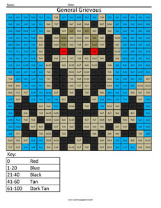 General Grievous- Star Wars Multiplication coloring activity