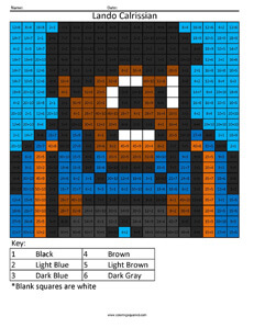 Lando Calrissian- Star Wars Division coloring activity