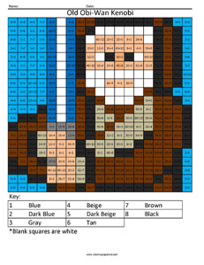 Old Obi-Wan Kenobi- Star Wars Division coloring activity