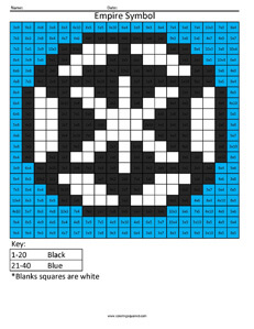 Empire- Star Wars Multiplication coloring activity