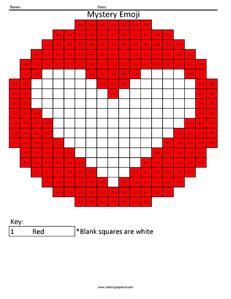 Facebook Love Emoji- Addition Coloring coloring activity