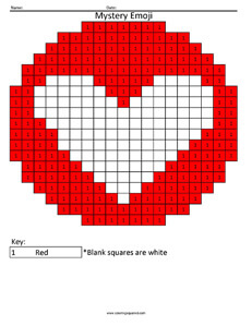 Facebook Love Emoji- Color by Number coloring activity