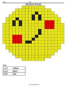 Facebook Yay Emoji- Addition Coloring coloring activity