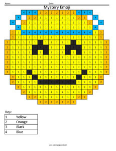 Angel Emoji- Color by Number coloring activity