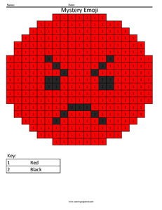 Emoji Color By Number Coloring Squared