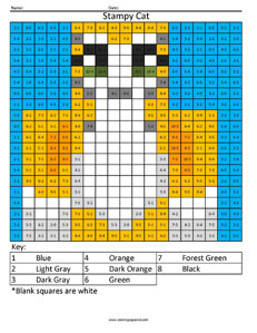 Stampy Cat- Youtube  Subtraction coloring activity