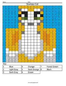 Stampy Cat- Youtube Division coloring activity