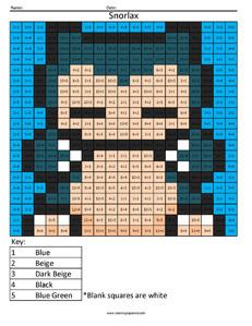 Snorlax- Pokemon Division - Coloring Squared