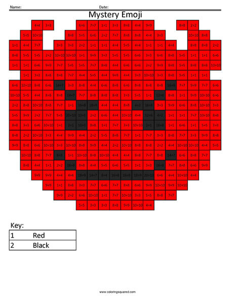 Devil Emoji- Division Coloring coloring activity
