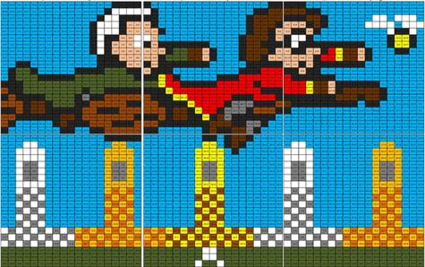 Quidditch Match Mural
