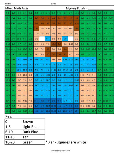Steve- Mixed Math Facts