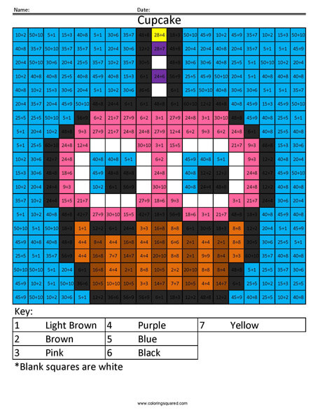 Video Game Multiplication And Division Coloring Squared