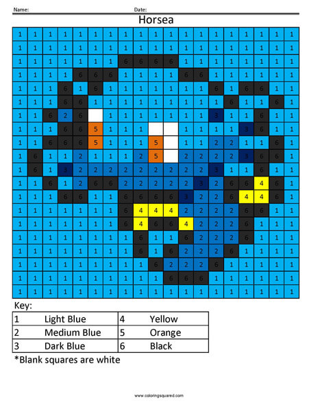 Pokemon Color by Number - Coloring Squared