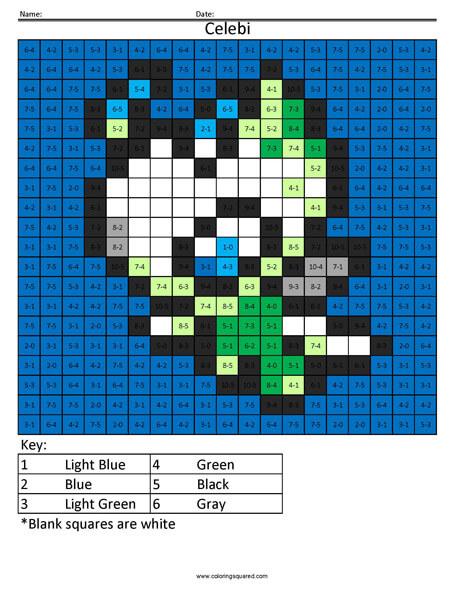 Celebi- Pokemon Subtraction
