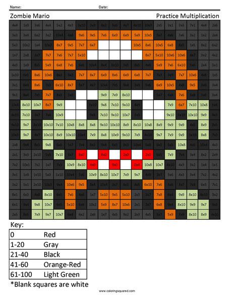 Halloween Super Mario coloring page