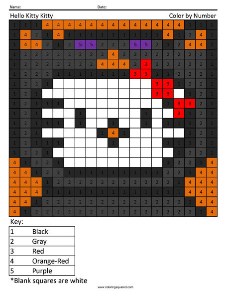 Halloween Hello Kitty coloring page