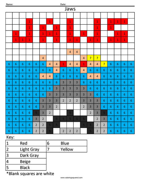 jaws coloring pages TVS15 Jaws Coloring Page   Coloring Squared jaws coloring pages