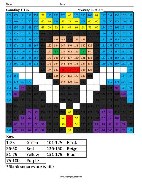 Evil Queen- Counting 1 to 175 Disney coloring math