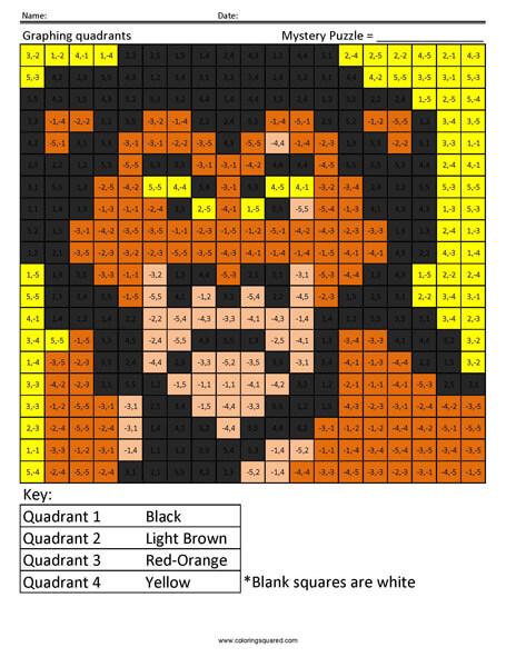 Scar- Quadrants Disney coloring math