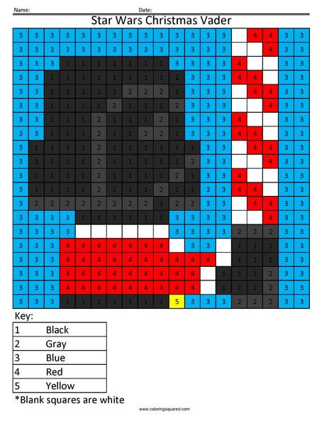Christmas Vader Coloring