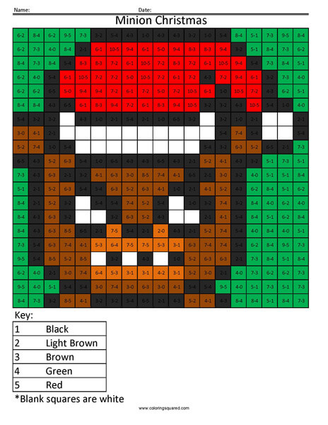 Christmas Freddy- Subtraction