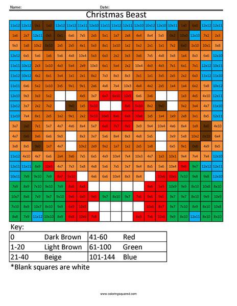 Christmas Beast Multiplication