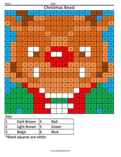 Beast Christmas- Holiday Coloring Minecraft