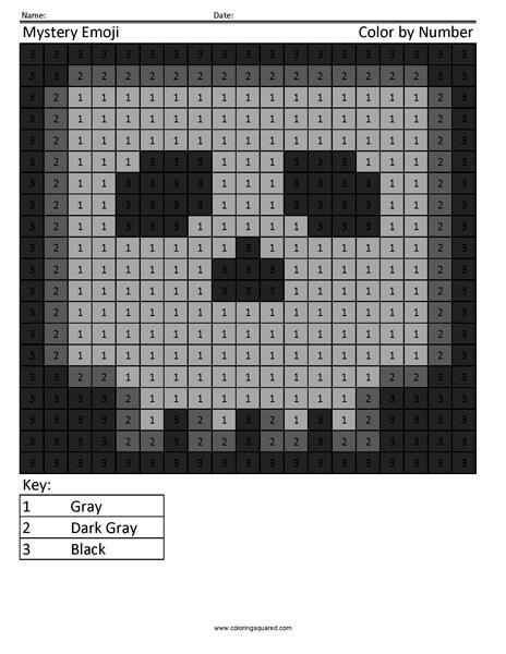 Square Emoji Coloring Page- Skull