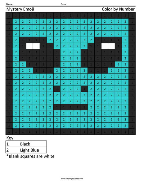 Emoji Color by Number - Coloring Squared