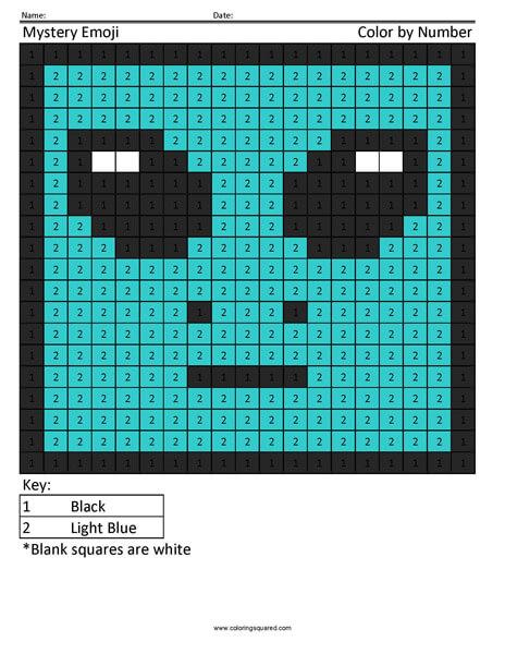 Square Emoji Coloring Page- Alien