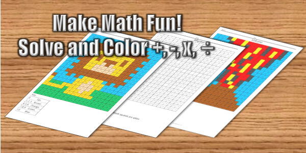 Coloring Squared Free Math Coloring Pages