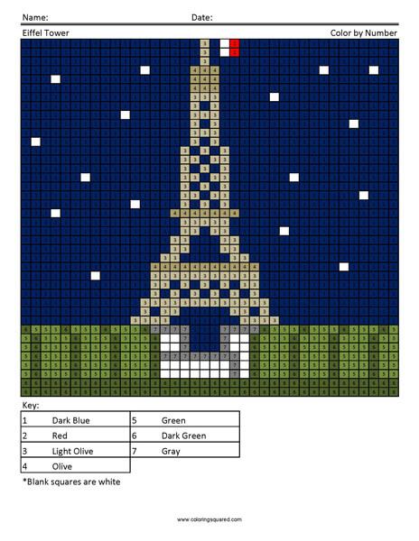 Eiffel Tower Coloring Page Megapixels