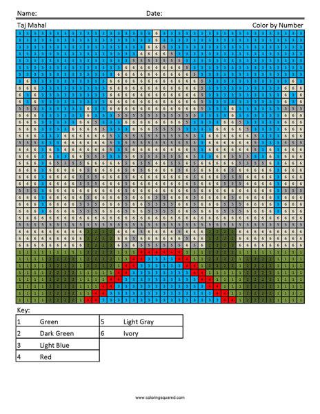 Taj Mahal Coloring Page Megapixels
