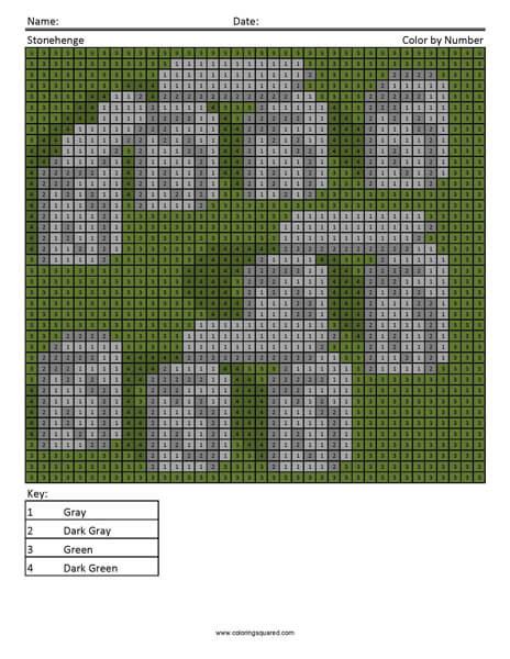 Stonehenge Coloring Page Megapixels