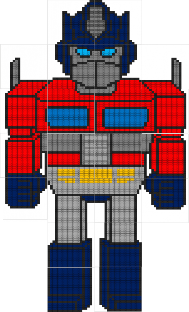 Transformers Color By Number Coloring Squared
