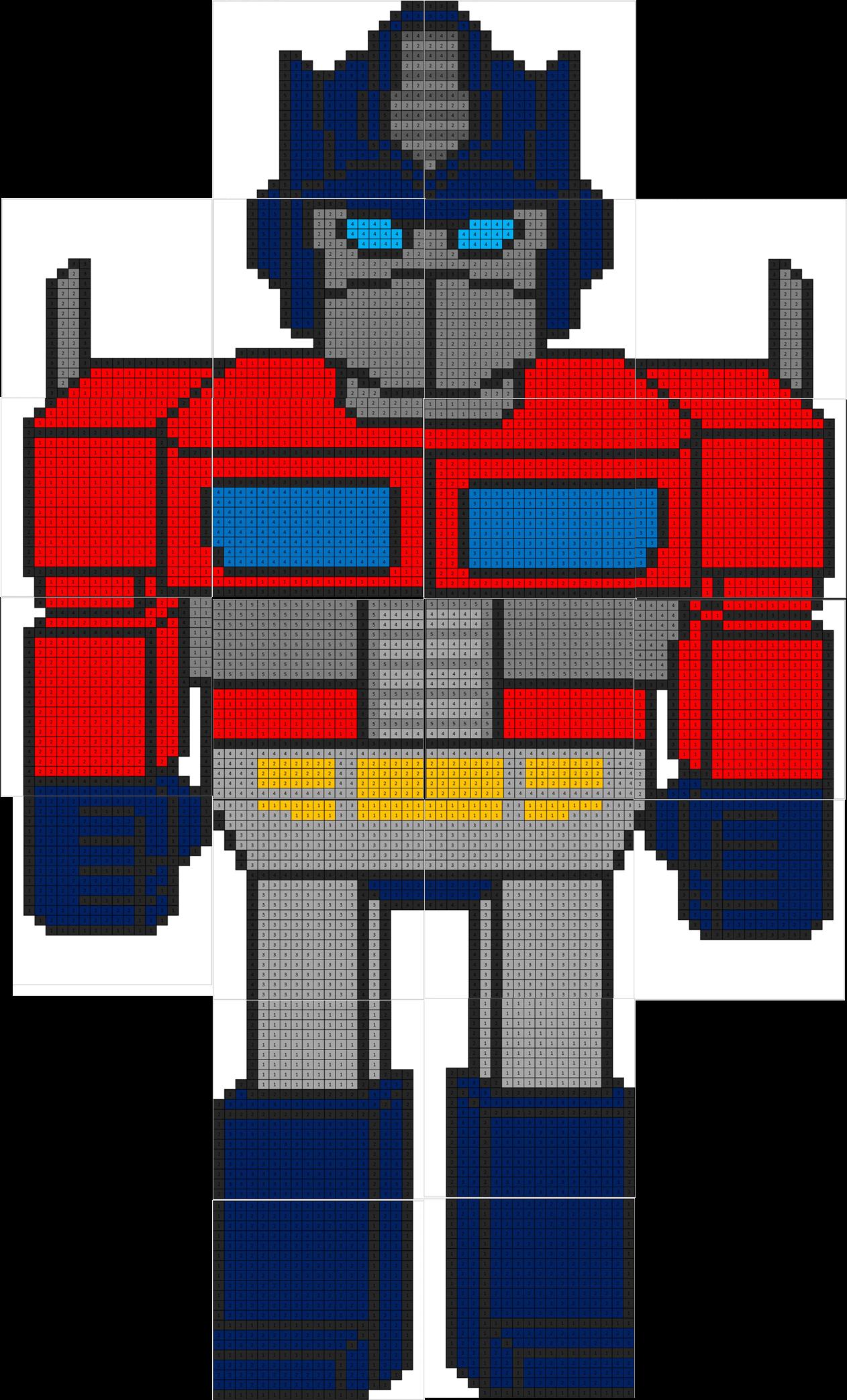 Optimus Prime Mural Coloring Squared