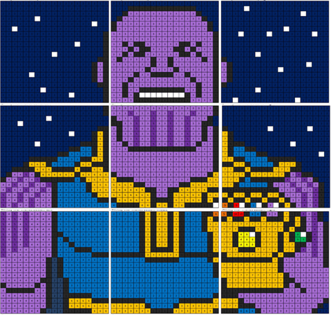 Infiniy War Thanos Mural