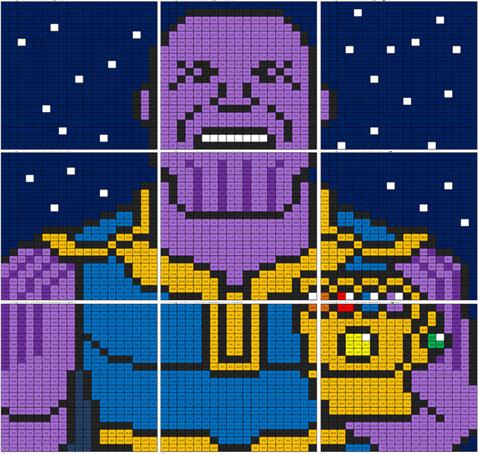 Infiniy War Thanos Mural