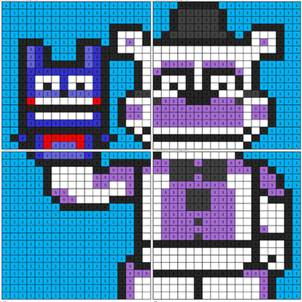 Funtime Freddy Coloring Mural Coloring Squared