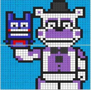 Funtime Freddy coloring mural